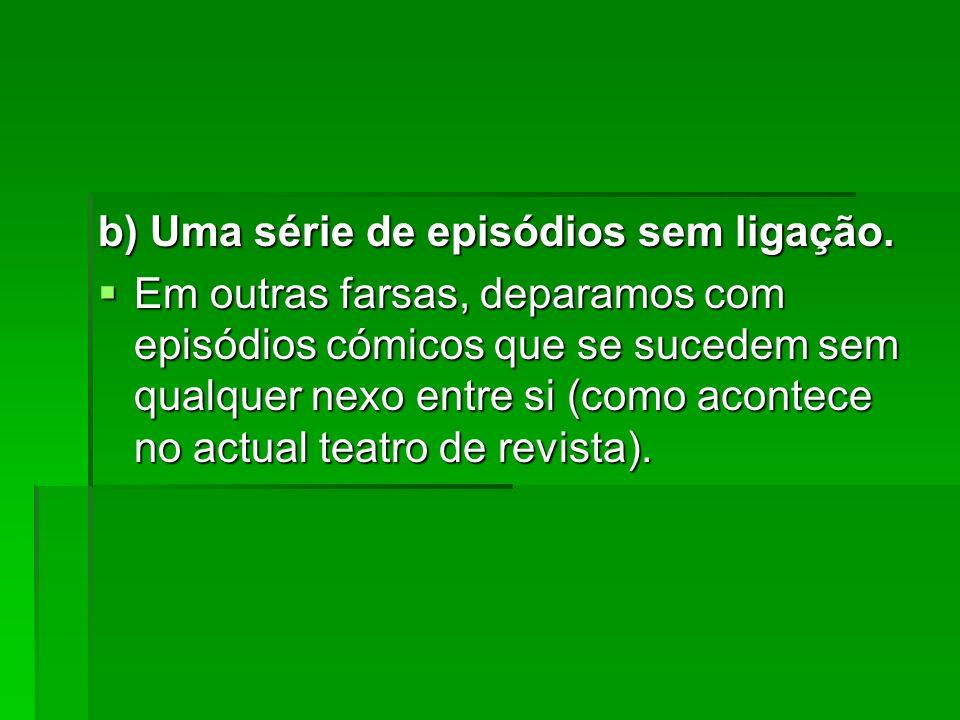 b) Uma série de episódios sem ligação.