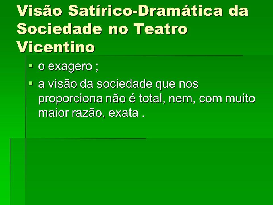 Visão Satírico-Dramática da Sociedade no Teatro Vicentino