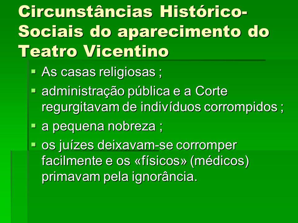 Circunstâncias Histórico-Sociais do aparecimento do Teatro Vicentino