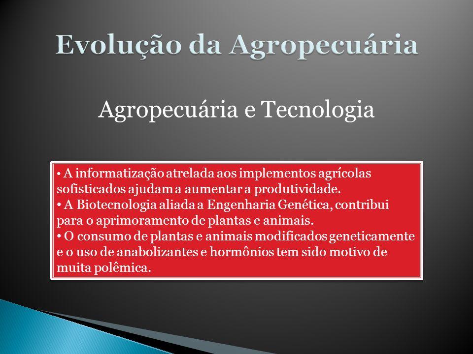 Evolução da Agropecuária