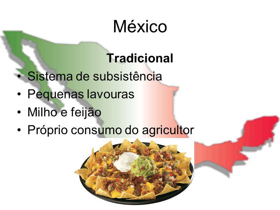 México Tradicional Sistema de subsistência Pequenas lavouras