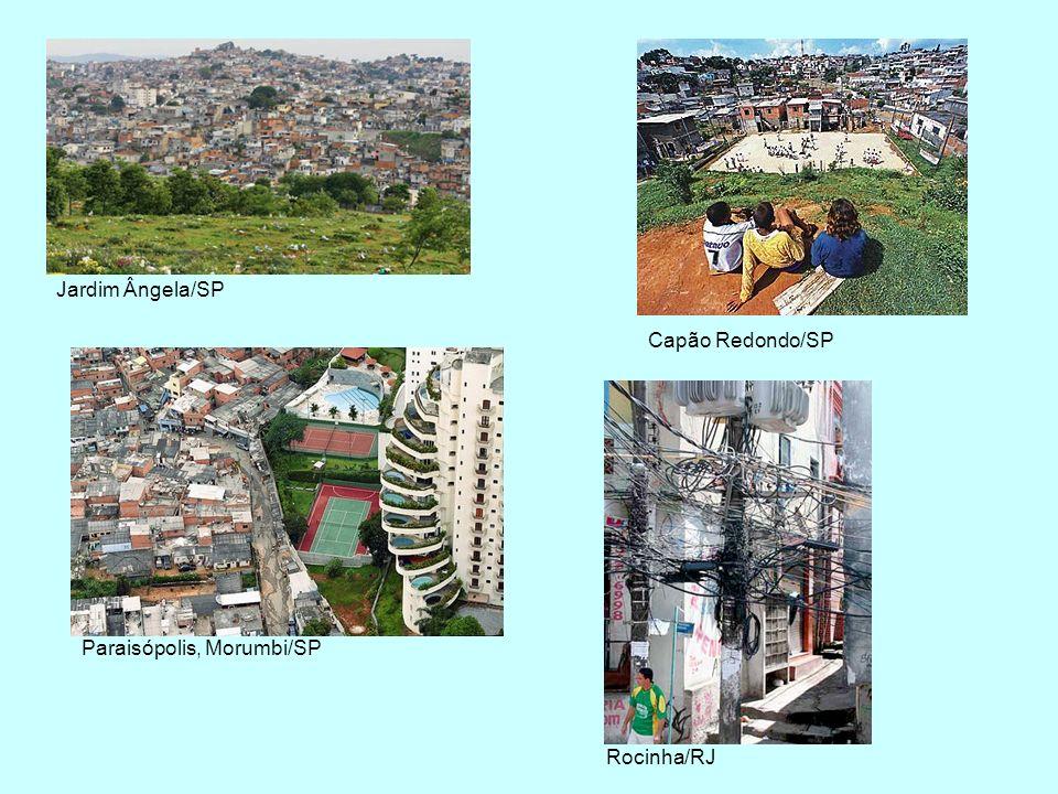 Jardim Ângela/SP Capão Redondo/SP Paraisópolis, Morumbi/SP Rocinha/RJ