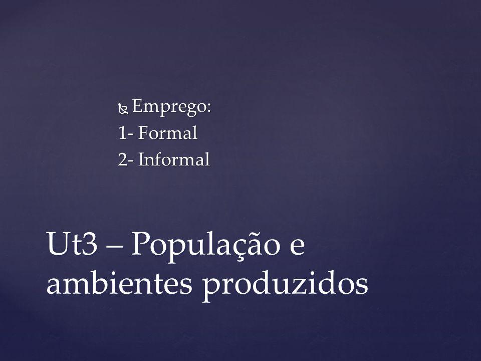 Ut3 – População e ambientes produzidos