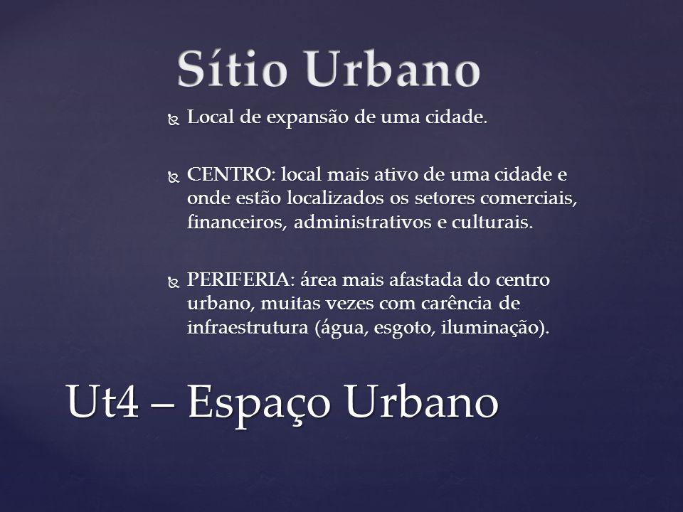 Sítio Urbano Ut4 – Espaço Urbano Local de expansão de uma cidade.
