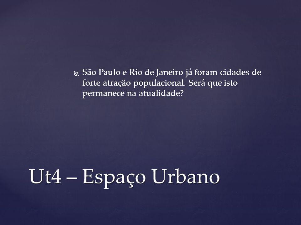 São Paulo e Rio de Janeiro já foram cidades de forte atração populacional. Será que isto permanece na atualidade
