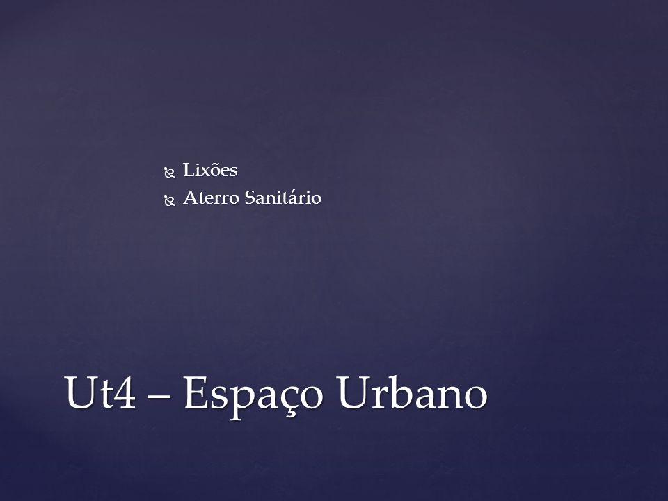 Lixões Aterro Sanitário Ut4 – Espaço Urbano
