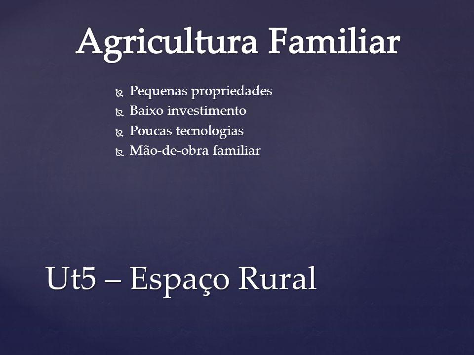 Agricultura Familiar Ut5 – Espaço Rural Pequenas propriedades