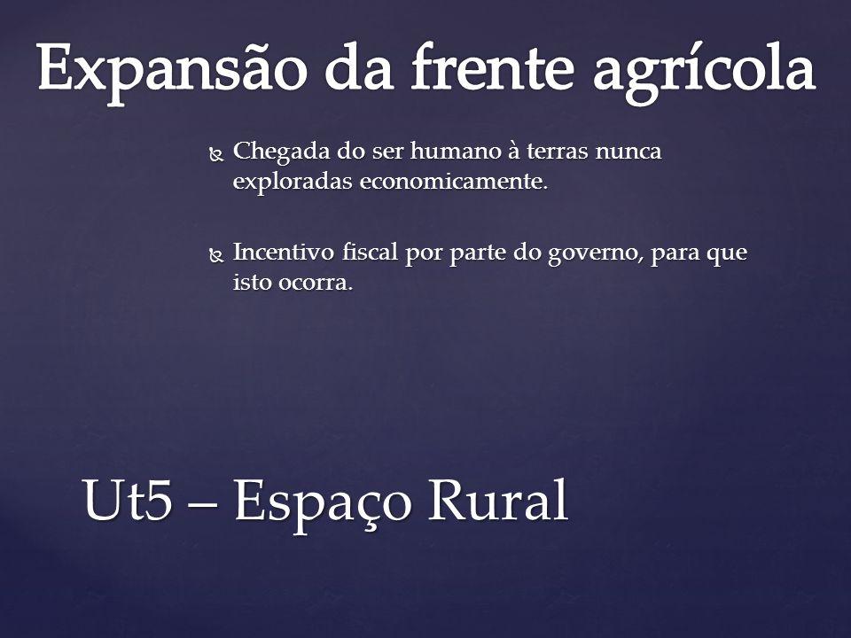Expansão da frente agrícola