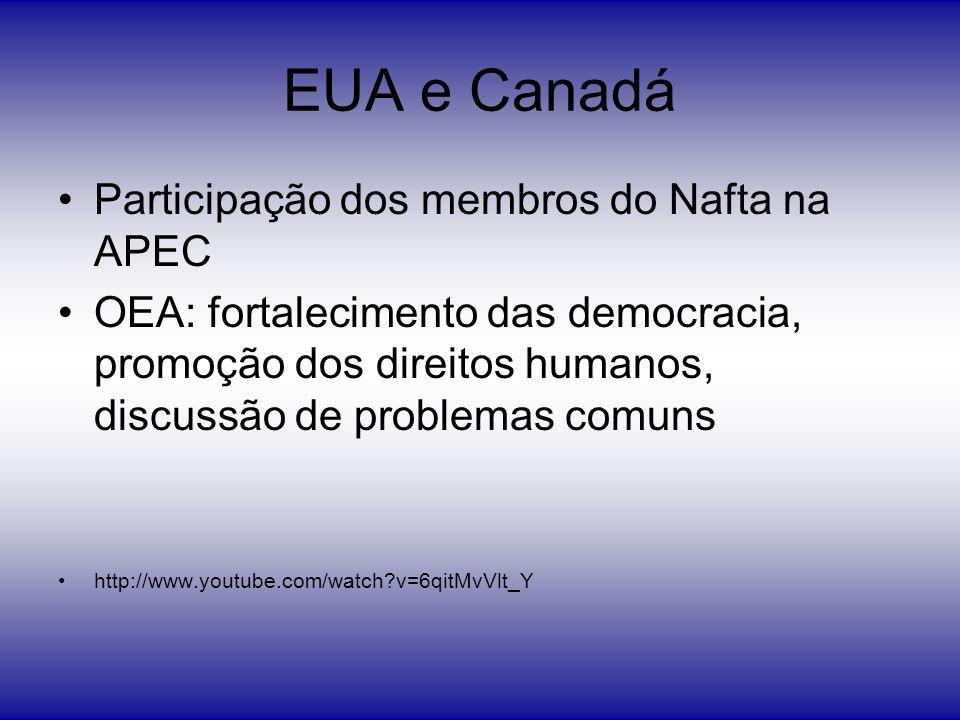 EUA e Canadá Participação dos membros do Nafta na APEC