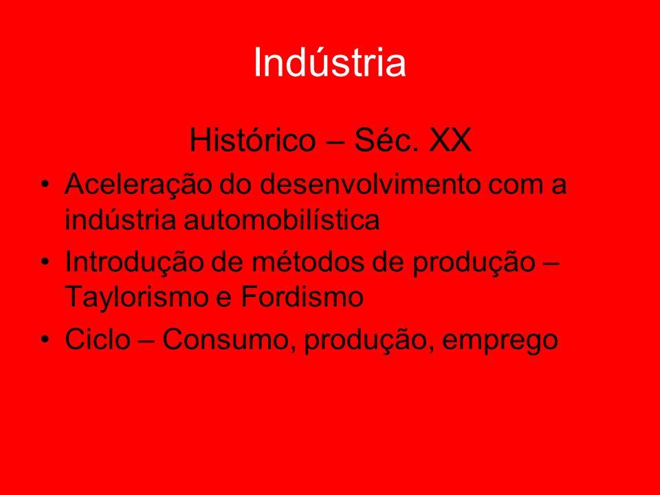 Indústria Histórico – Séc. XX