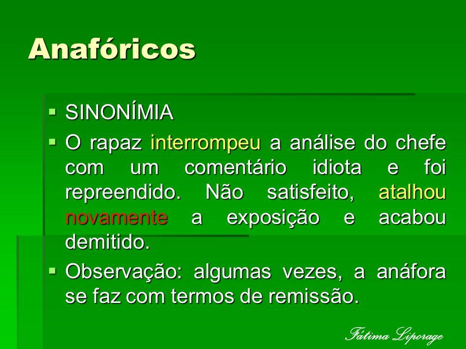 Anafóricos Fátima Liporage SINONÍMIA