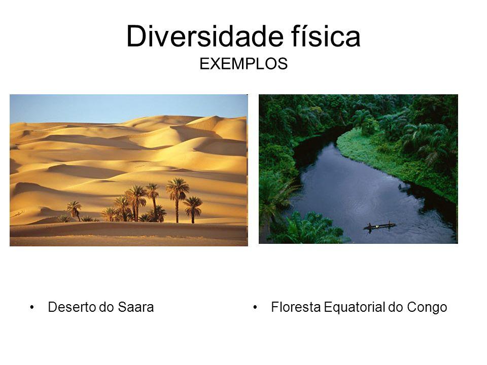Diversidade física EXEMPLOS