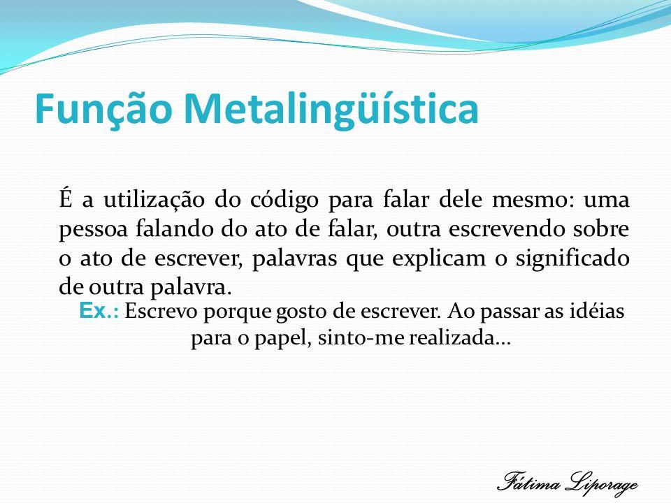 Função Metalingüística