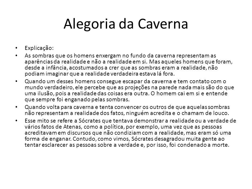 Alegoria da Caverna Explicação: