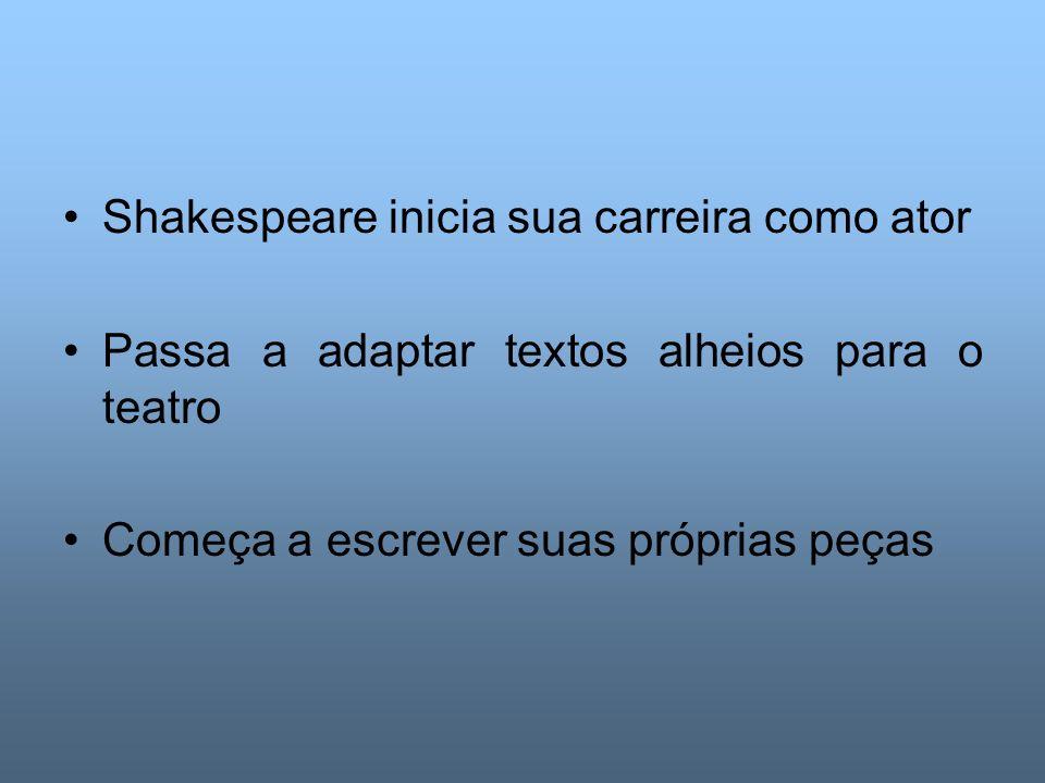 Shakespeare inicia sua carreira como ator