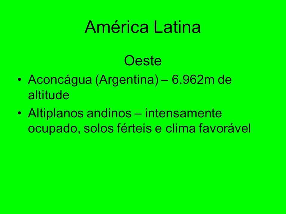 América Latina Oeste Aconcágua (Argentina) – 6.962m de altitude