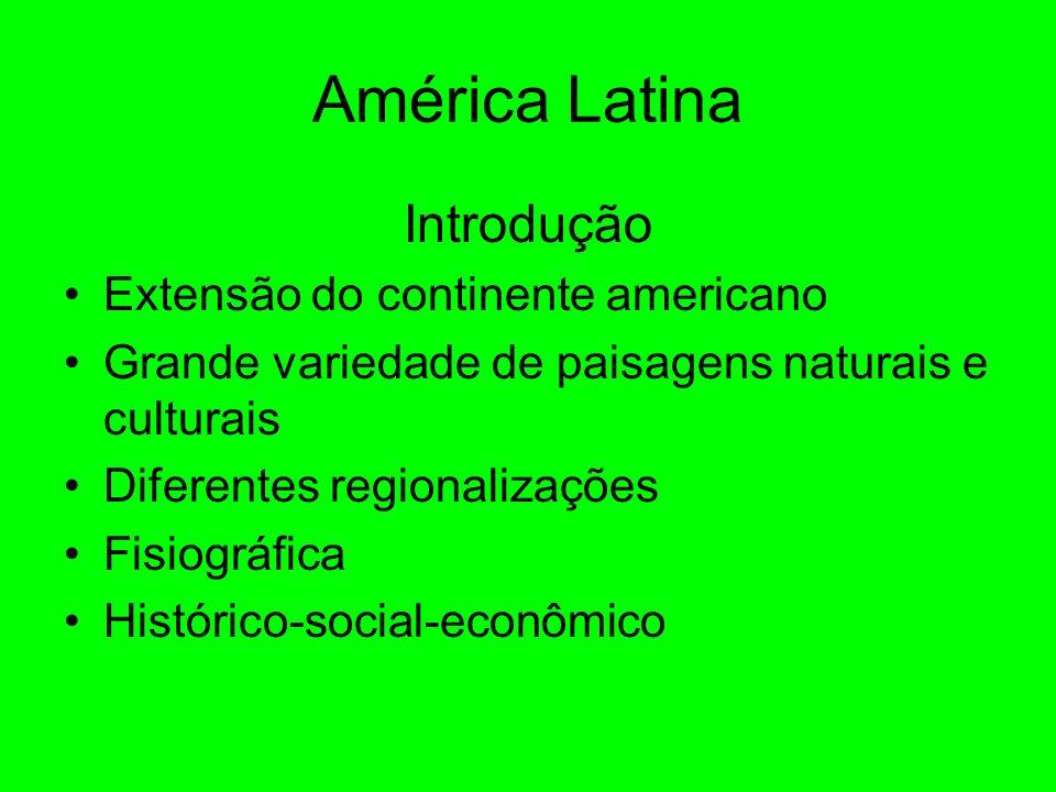 América Latina Introdução Extensão do continente americano
