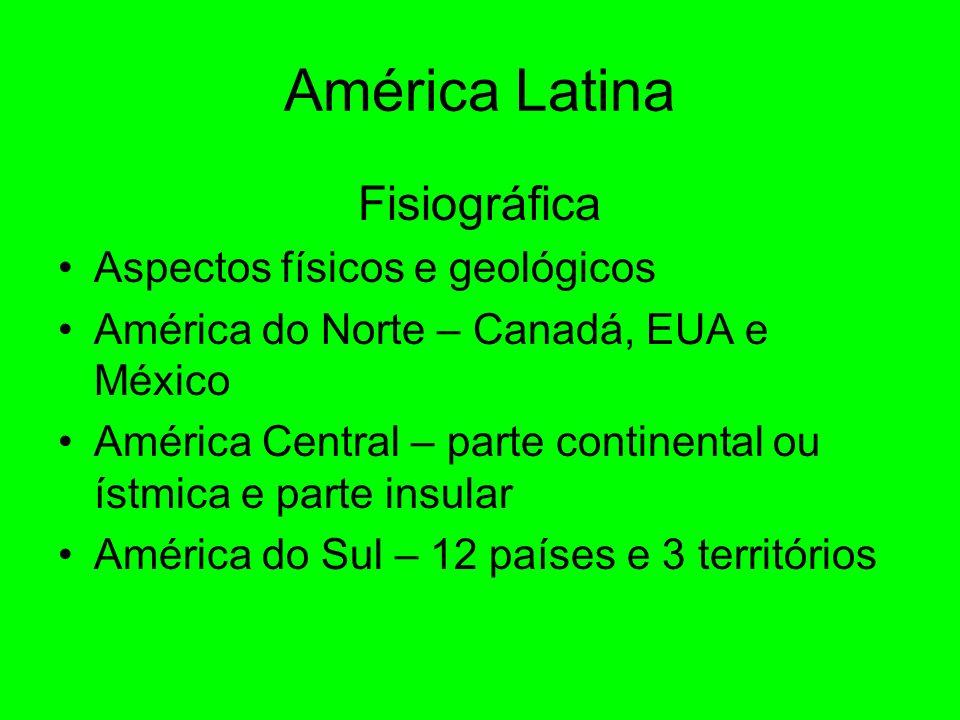 América Latina Fisiográfica Aspectos físicos e geológicos