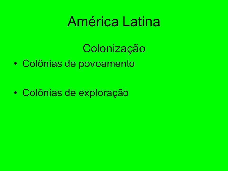 América Latina Colonização Colônias de povoamento