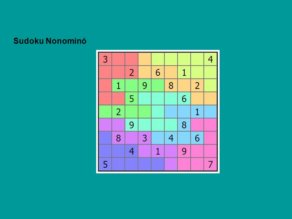 Sudoku Nonominó