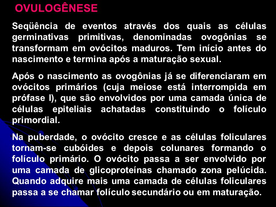 OVULOGÊNESE