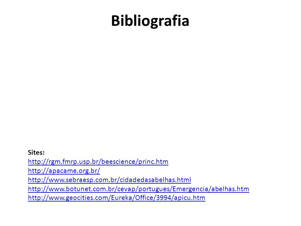 Bibliografia Sites: