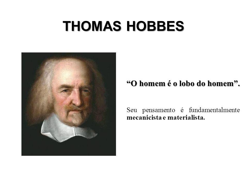 THOMAS HOBBES O homem é o lobo do homem .