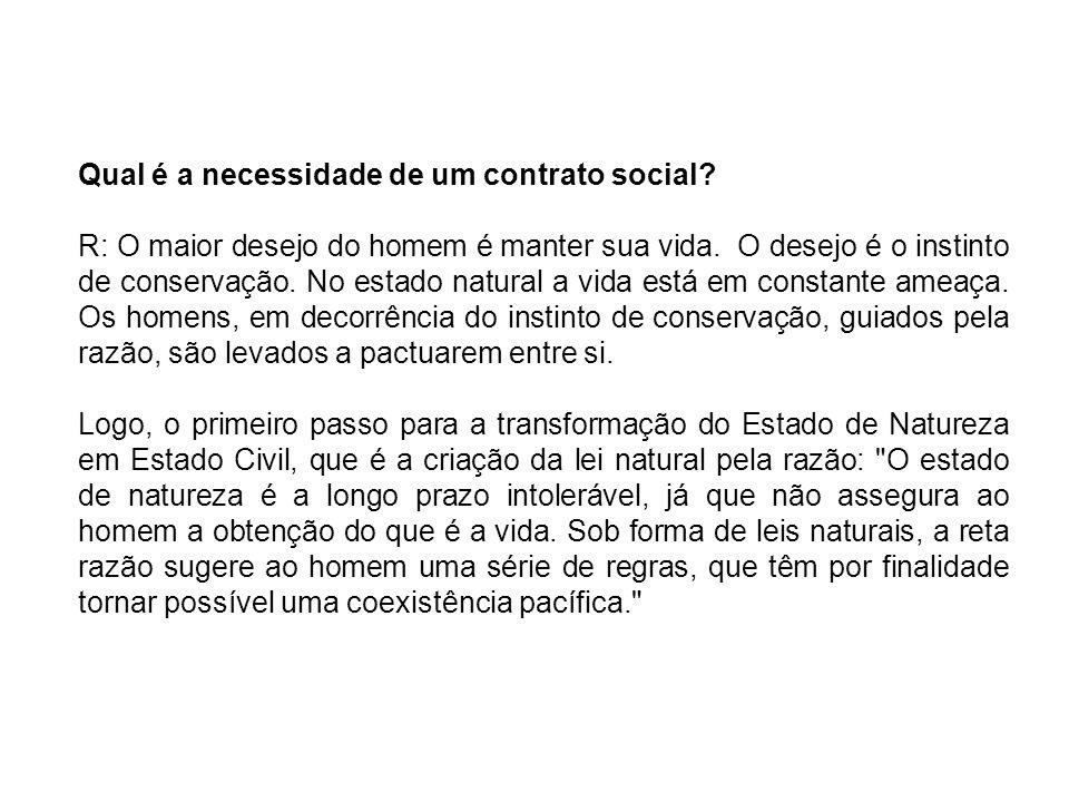 Qual é a necessidade de um contrato social