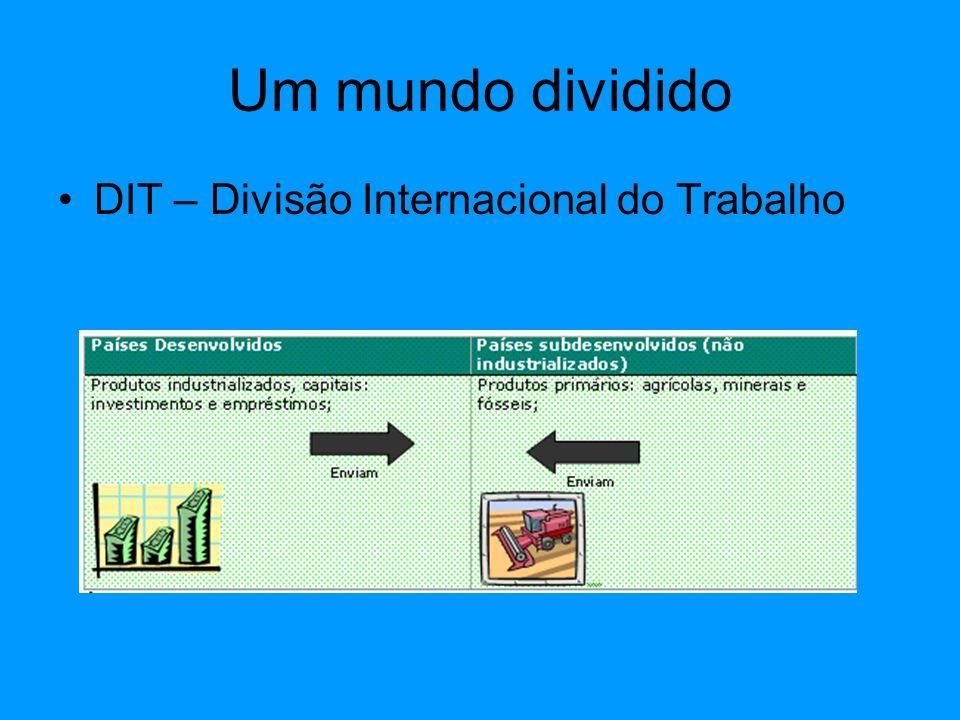 Um mundo dividido DIT – Divisão Internacional do Trabalho