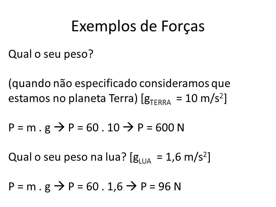 Exemplos de Forças Qual o seu peso