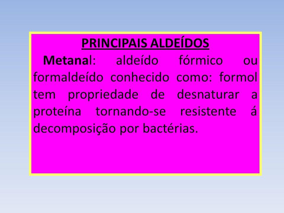 PRINCIPAIS ALDEÍDOS