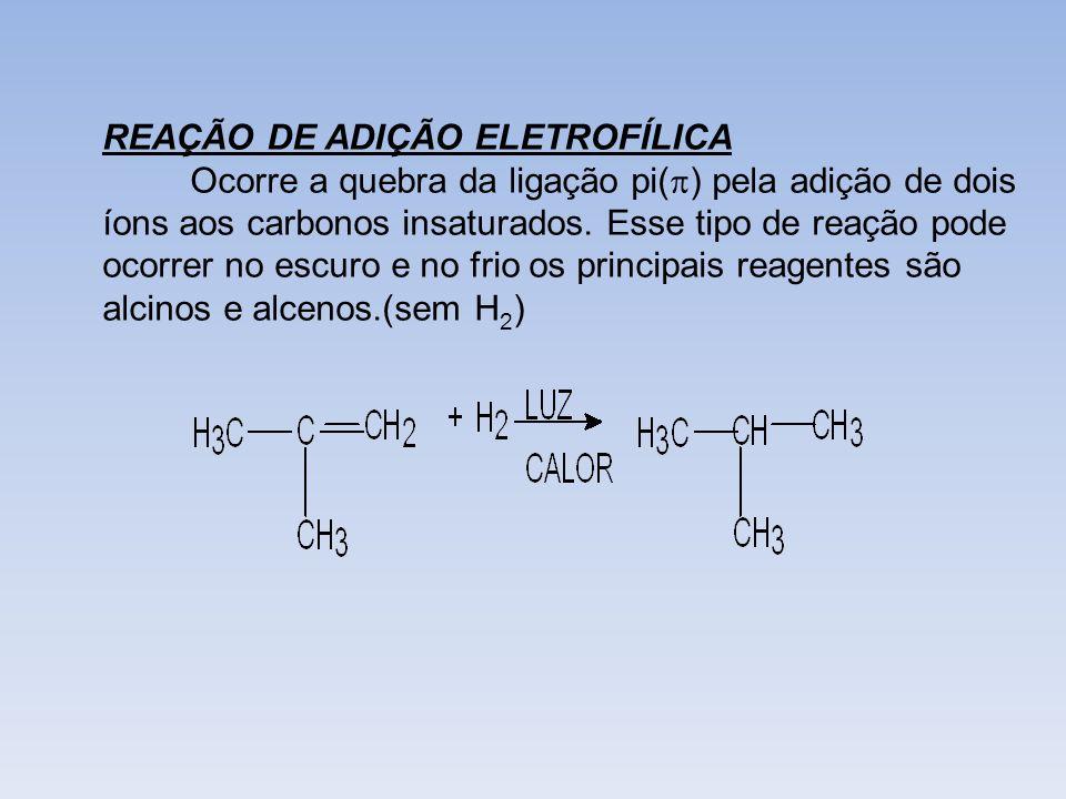 REAÇÃO DE ADIÇÃO ELETROFÍLICA