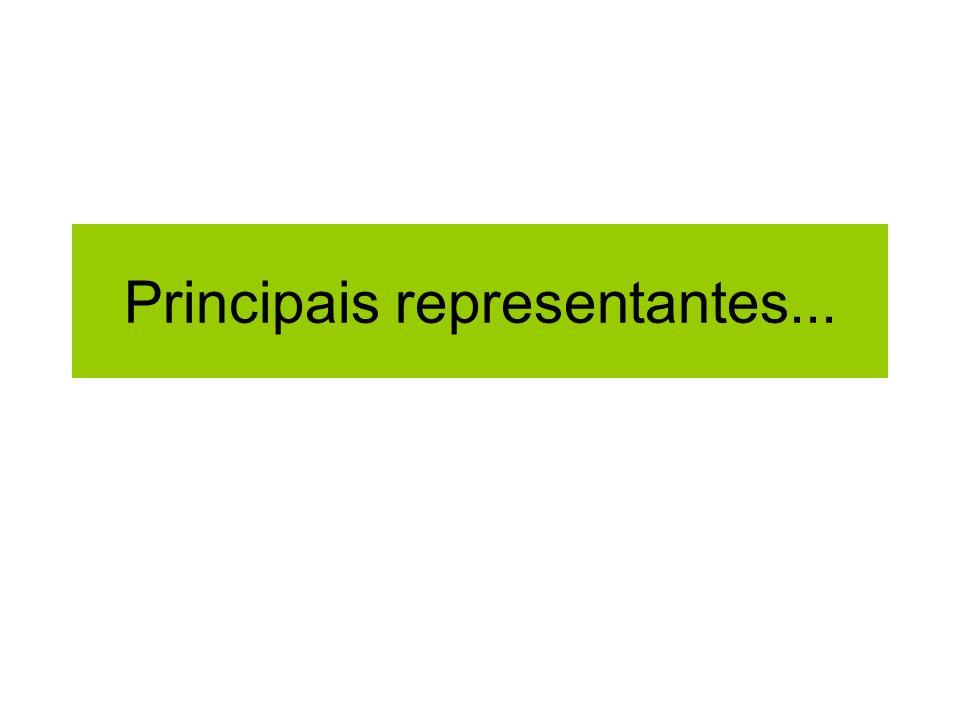 Principais representantes...