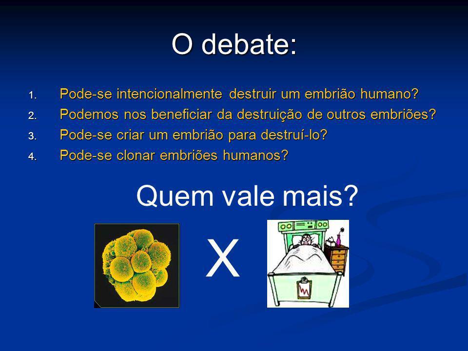 X O debate: Quem vale mais