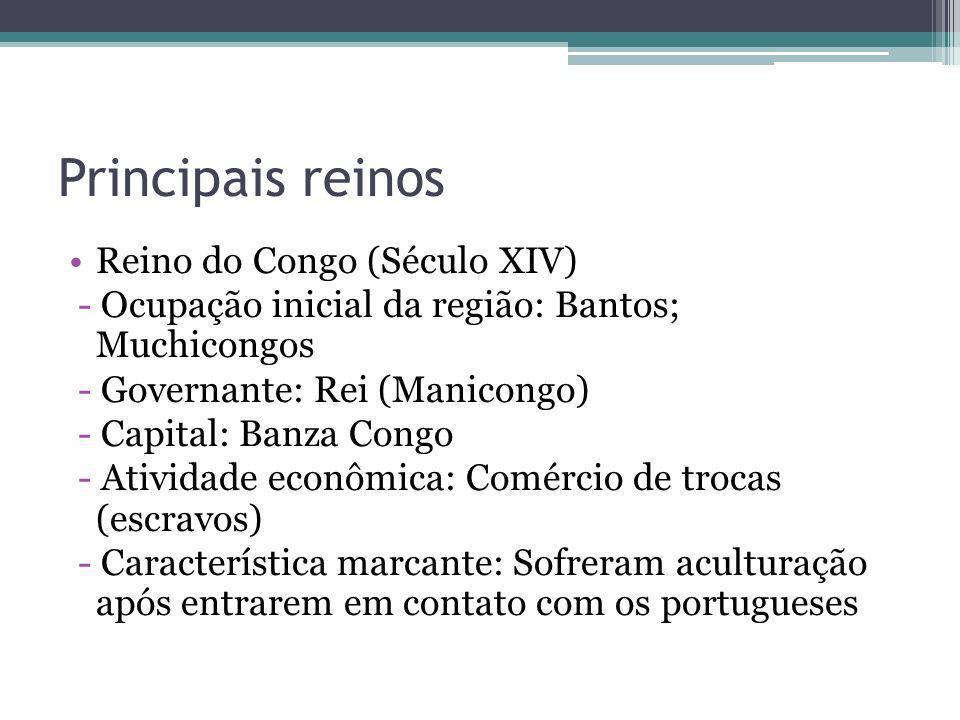 Principais reinos Reino do Congo (Século XIV)