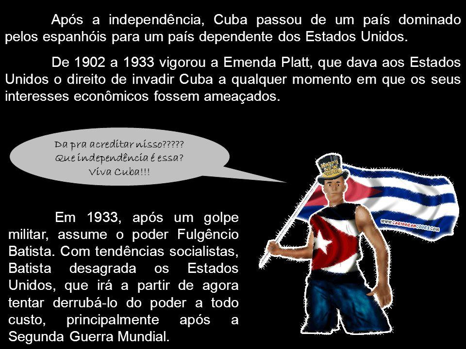 Da pra acreditar nisso Que independência é essa Viva Cuba!!!