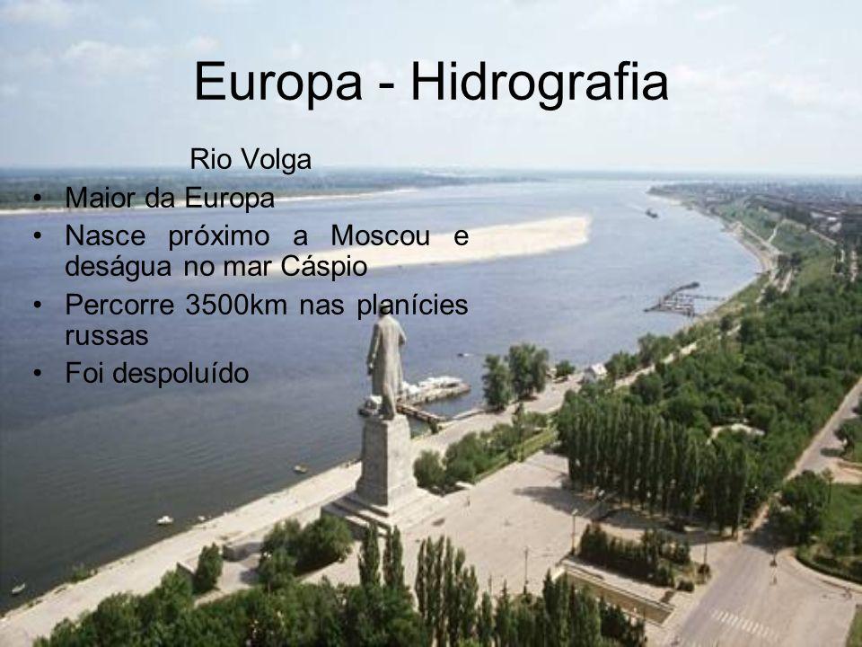 Europa - Hidrografia Rio Volga Maior da Europa