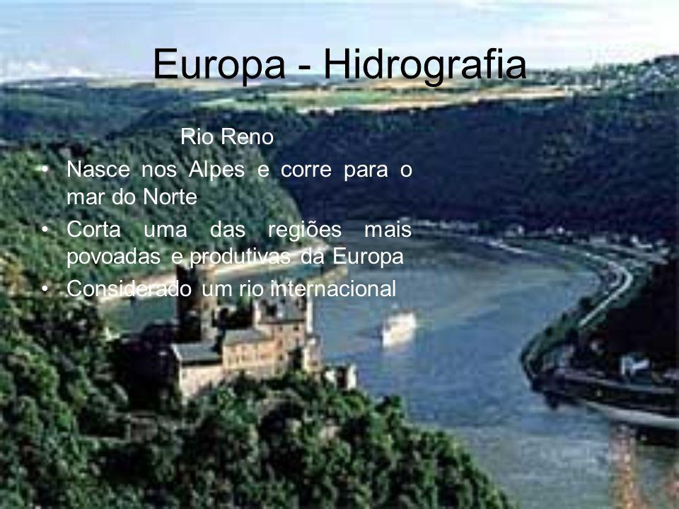 Europa - Hidrografia Rio Reno