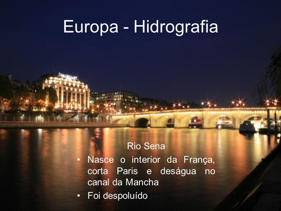 Europa - Hidrografia Rio Sena