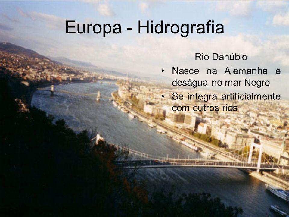 Europa - Hidrografia Rio Danúbio