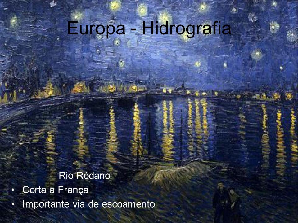 Europa - Hidrografia Rio Ródano Corta a França