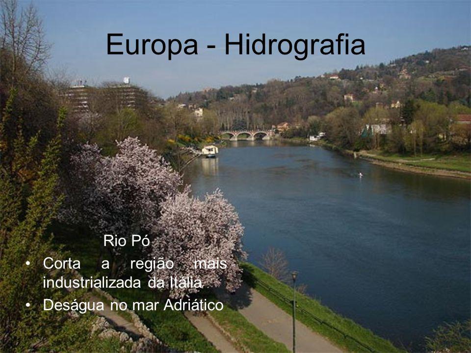 Europa - Hidrografia Rio Pó