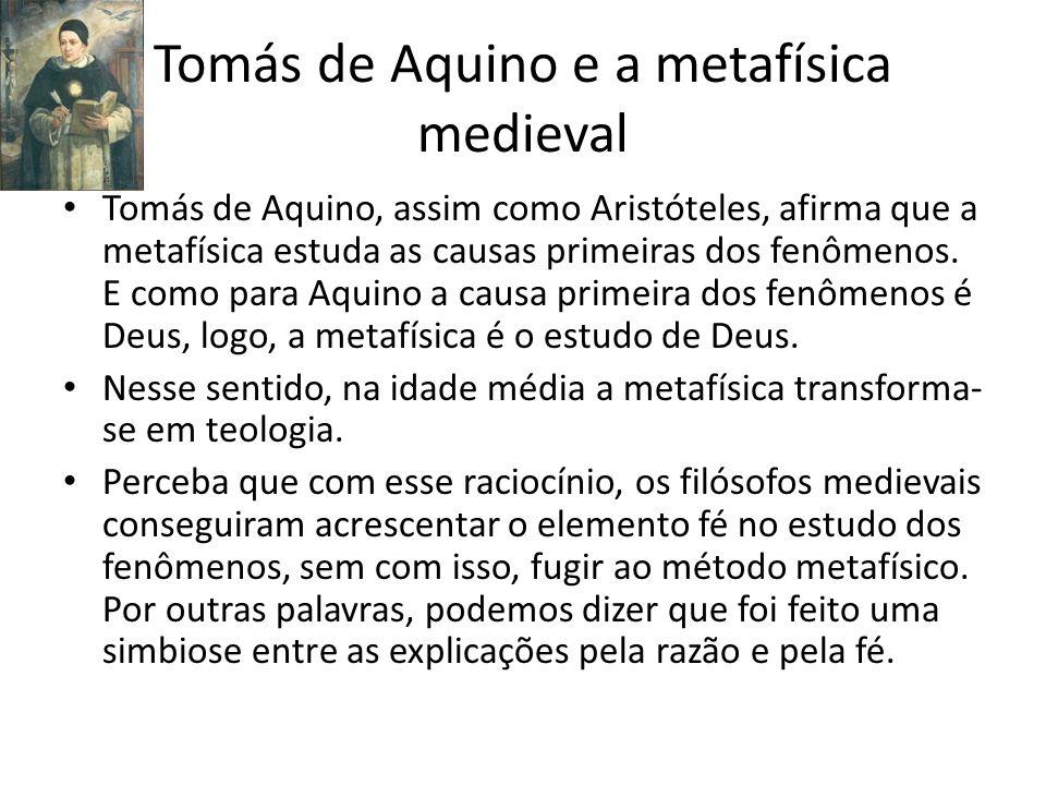 Tomás de Aquino e a metafísica medieval