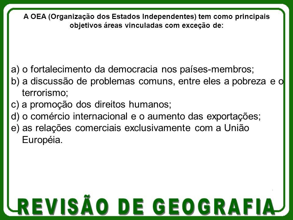 a) o fortalecimento da democracia nos países-membros;