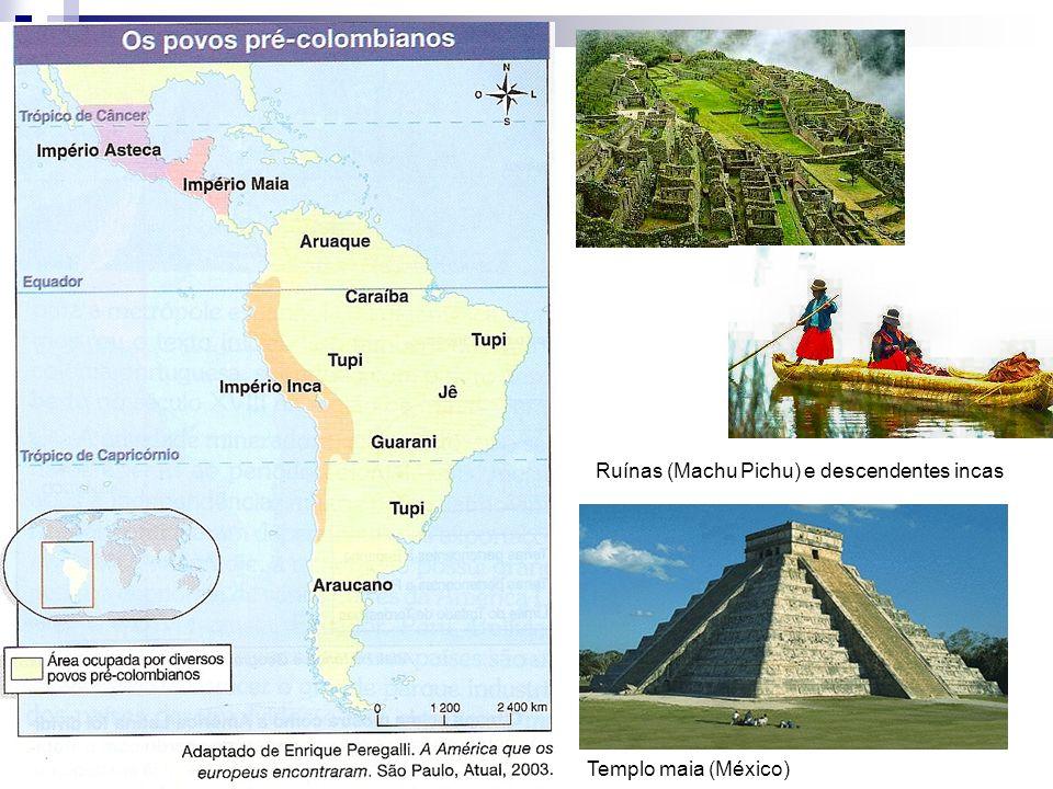 Ruínas (Machu Pichu) e descendentes incas