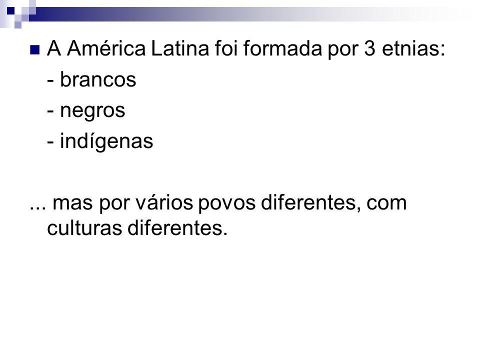 A América Latina foi formada por 3 etnias: