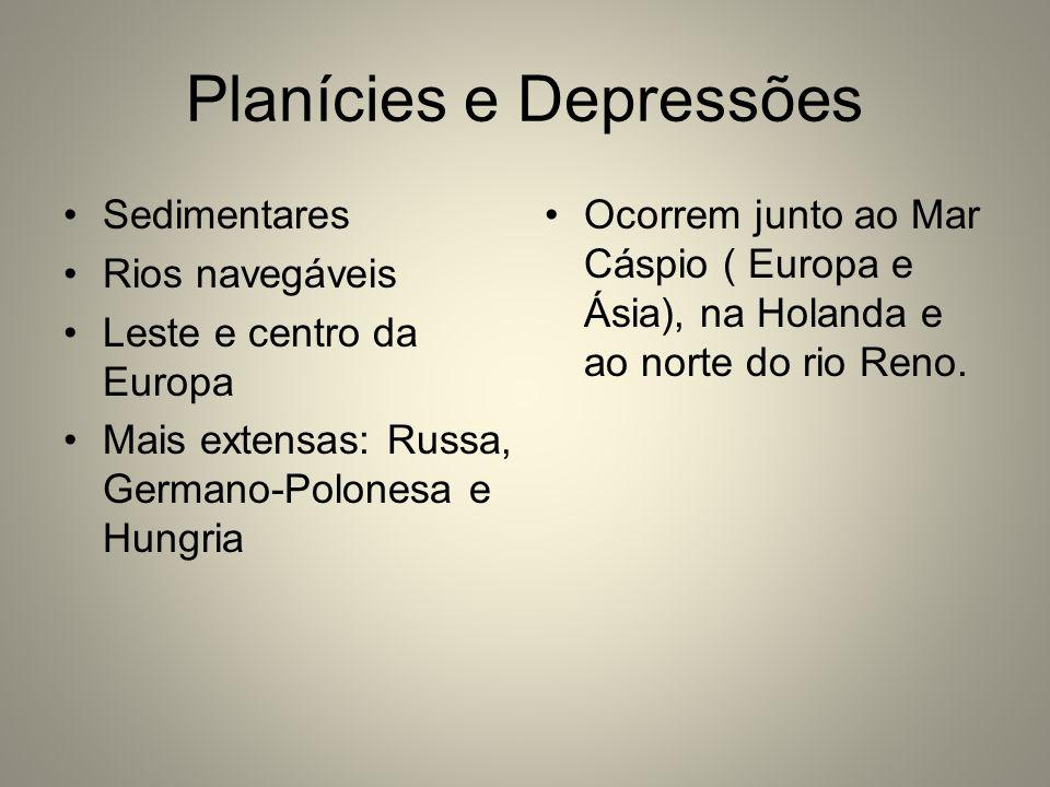 Planícies e Depressões