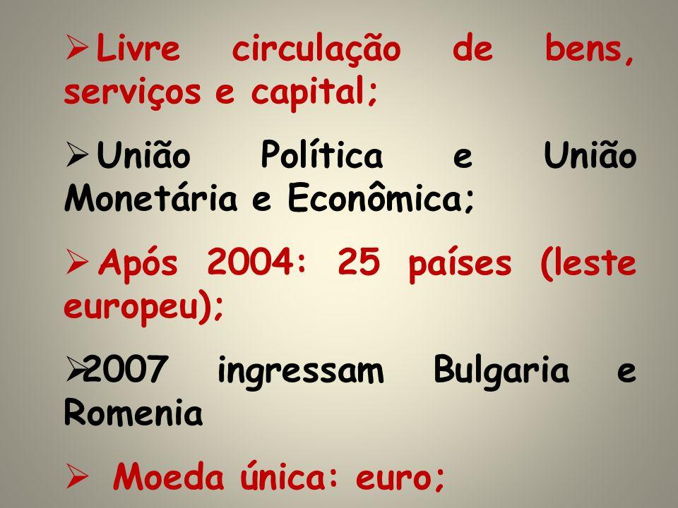 Livre circulação de bens, serviços e capital;