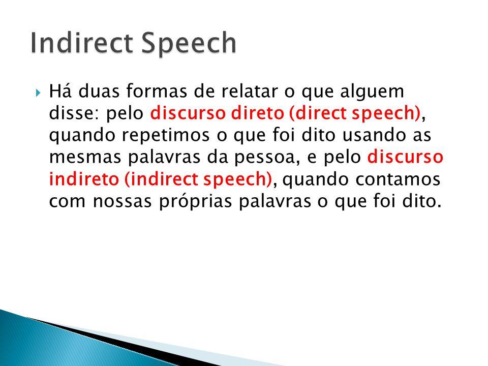 Indirect Speech