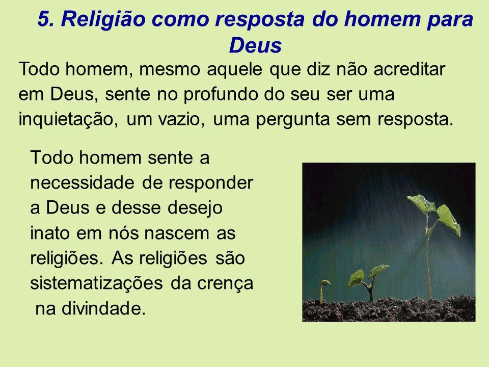 5. Religião como resposta do homem para Deus